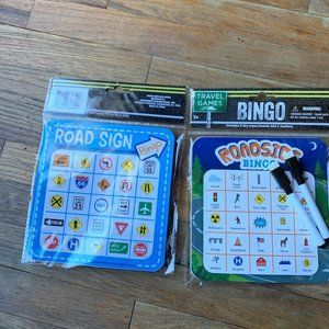 Bingo boards double sided with 2 markers new